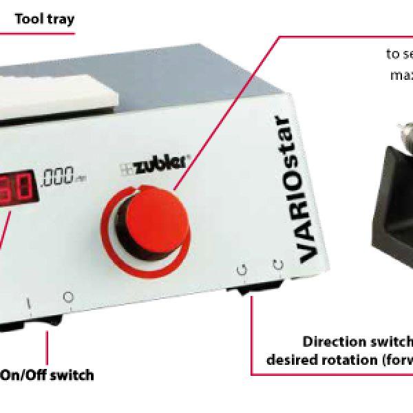 VARIOstar D50 ZUBLER Micromotor esInfatigable: gran potencia, estable en todo el rango de velocidades y manejo sencillo.El todoterreno de los laboratorios dentales modernos.
